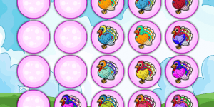 Hra - Colorful Turkey Matching
