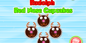 Hra - Rudolph Red Nose Cupcakes