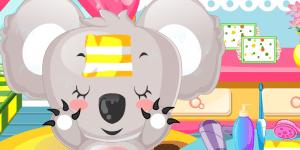 Cute Koala Caring