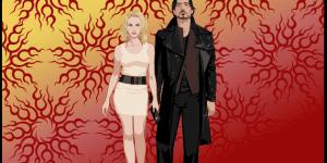 Robert John Downey Jr & Scarlett Johansson