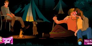 Campfire Kissing