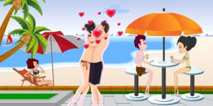 Vanessa Beach Kiss