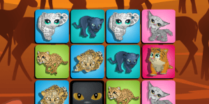 Big Cat Memory Game