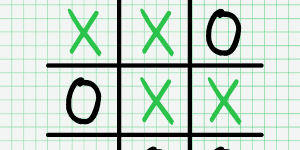 Tic Tac Toe Paper Note
