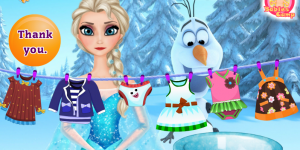 Hra - Elsa Washing Clothes
