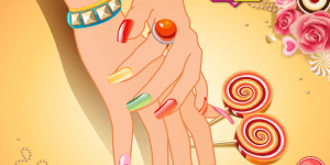 Candy Colored Nails