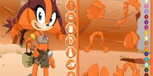 Hra - Sonic Boom Sticks The Badger Dress Up