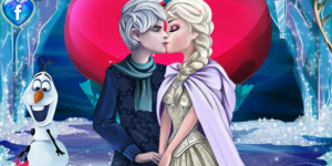 Sweet Kissing Elsa And Jack Frost