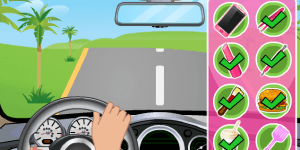 Barbie Driving Slacking