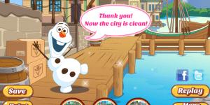 Hra - Olaf Cleans Arendelle