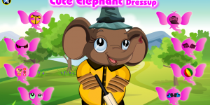 Hra - Cute Elephant Dressup