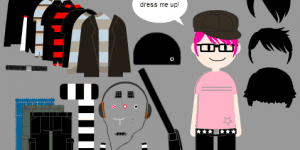 Hra - Dress-up Emo Boy
