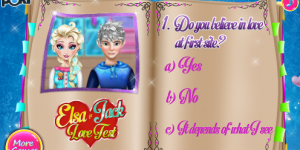 Hra - Elsa & Jack Love Test
