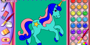 Horse & Unicorn Coloring Book