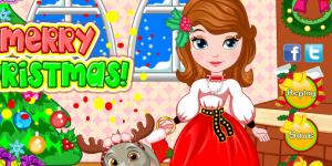 Hra - Princess Sofia Christmas Dressup