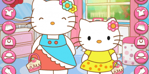 Hra - Hello Kitty And Mom Matching Outfits