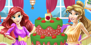 Hra - Belle and Ariel Cooking Wedding Cake for Jasmine