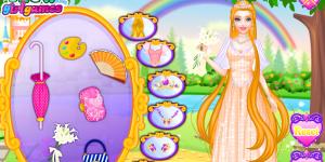 Hra - Rapunzel and Barbie Dress Up