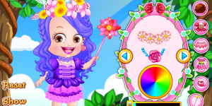 Hra - Baby Hazel Flower Princess Dress Up