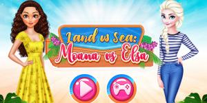 Hra - Land vs Sea Moana vs Elsa