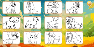 Hra - Dogs Coloring Book
