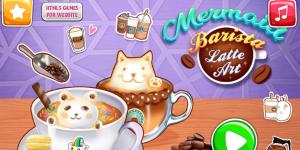 Hra - Mermaid Barista Latte Art