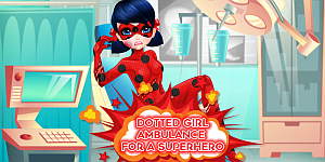 Hra - Dotted Girl Ambulance For Superhero