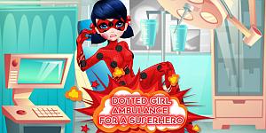 Hra - Dotted Girl Ambulance For Superhero