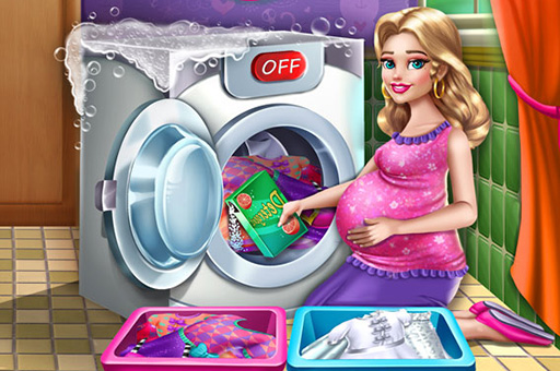 Mommy Washing Clothes