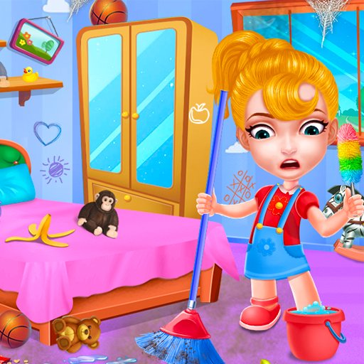 Hra - Baby Doll House Cleaning Game