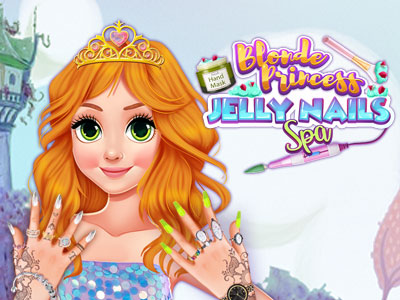 Hra - Blonde Princess Jelly Nails Spa