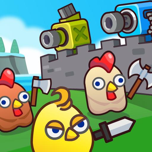 Hra - Merge Cannon: Chicken Defense